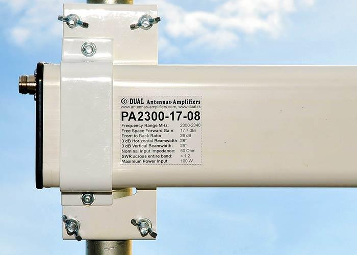 13 cm Antenna in Radome 2304 MHz 2200 2300 2400-2500 MHz