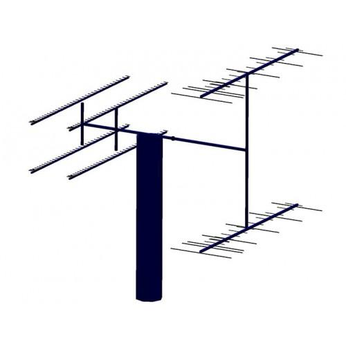 23cm PA1296-36-3BUT Antennas with Two VHF-UHF DualBand Yagis PA144-432-19-3-2CB