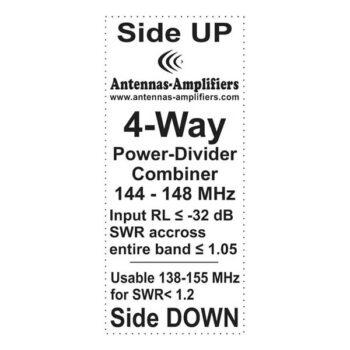 2meter DualBand Coaxial Power Splitter 4-port Divider 7/16 DIN