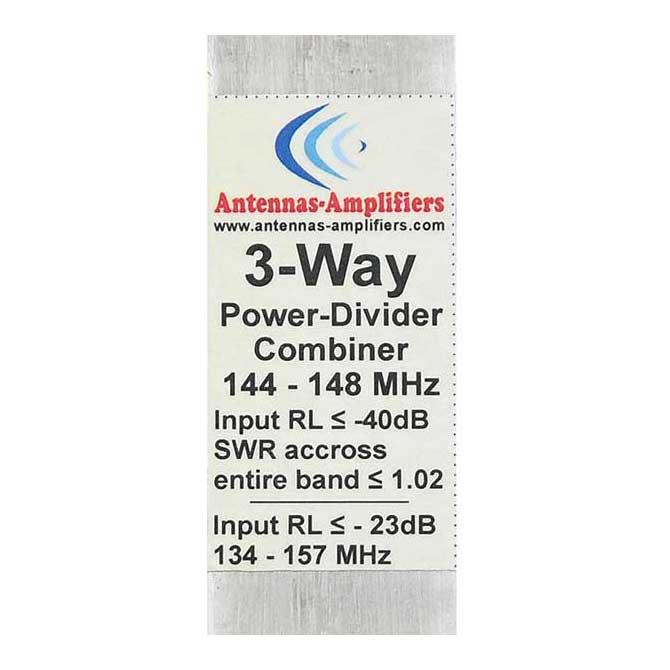 2m Power Splitter Combiner 144 MHz 3-Port Divider 1/4wl