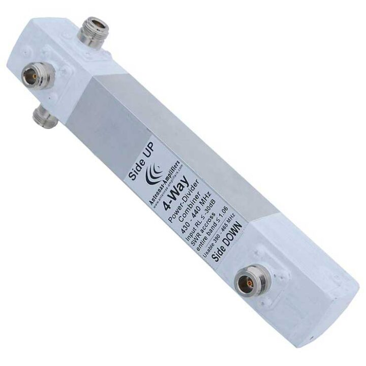 70 cm 4-Way Power Divider Combiner 430 – 440 MHz band.