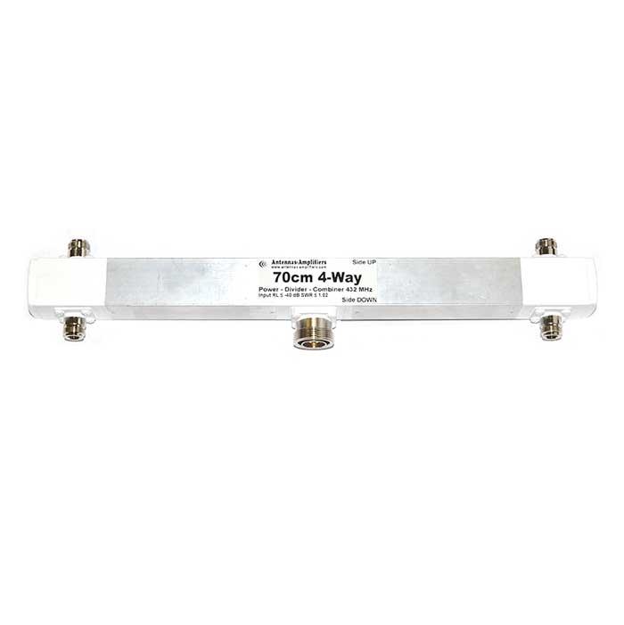 70cm 4-Port 1/2wl Power Splitter Combiner 432 MHz