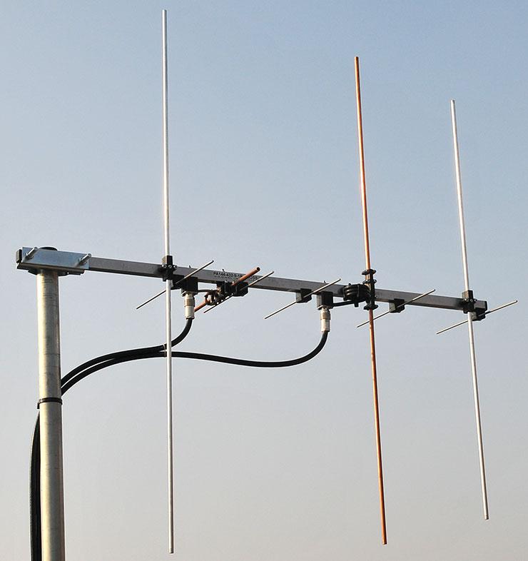 Cross Yagi PA144-432-CROSS-9-1-2CRA Dual band Yagi with cables