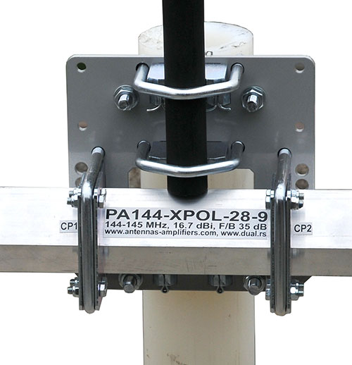 Boom to mast bracket with guy rope support PA144-XPOL-28-9BGP Q65 Antenna