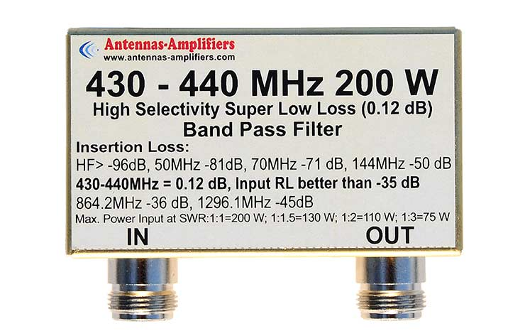 430MHz-440MHzr-Low-Loss-200W-Band-Pass-Filter-BPF-70cm-Band
