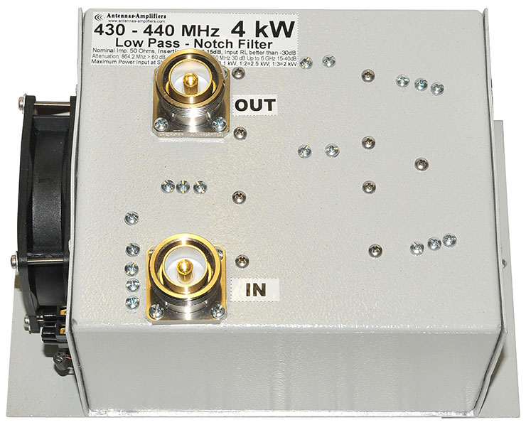 432 MHz Low-Pass-Notch-Filter-4kW
