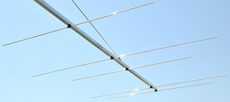 50MHz-70MHz-Super-Yagi-Antenna-PA5070-15-9-2C-tapered-elements-view