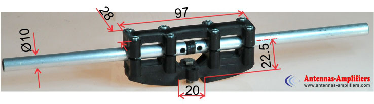 Dipole-Holder-Max-Air-Boom-20mm-Element-OD10mm-Dimensions