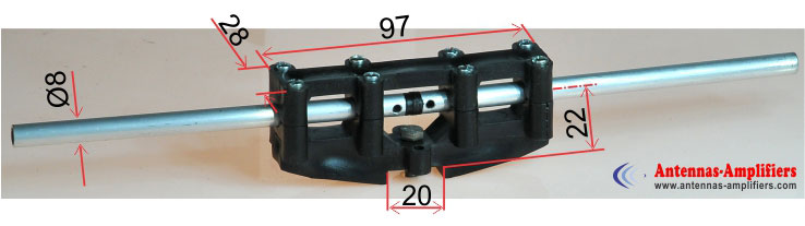 Dipole-Holder-Max-Air-Boom-20mm-Element-OD8mm-Dimensions