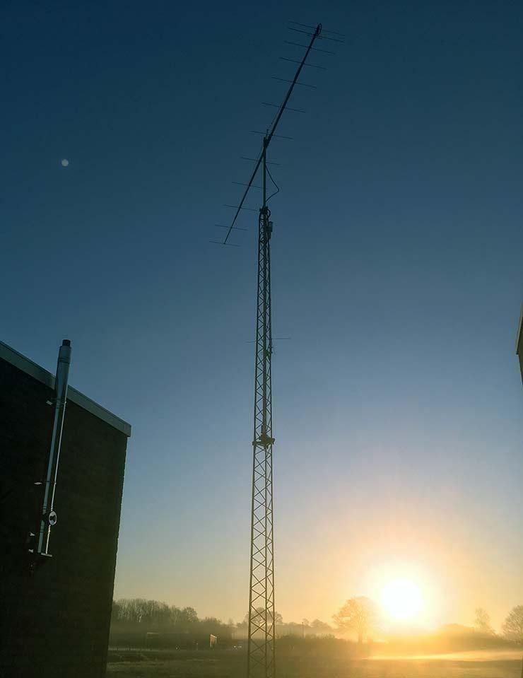 144MHz Super Low Noise Yagi Antenna 7m Boom PA144-12-7BGP at DG3EK