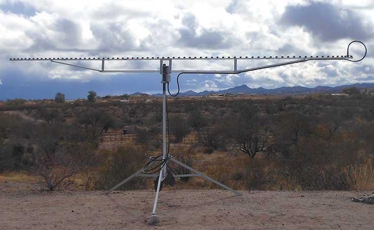 Super Yagi PA1296-70-6AUT On Tripod Looking Toward Tucson Arizona John WO1S 23cm