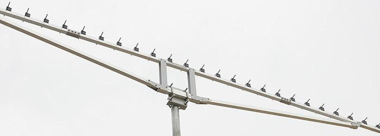 23cm-Low-Noise-Super-Yagi-Antenna-PA1296-43-3.6AUT-Portable-Contest-Bracket-View