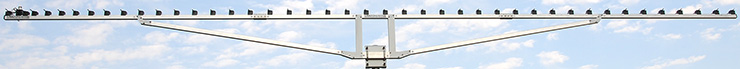 23cm-1296MHz-Super-Low-Noise-Huge-Yagi-Antenna-PA1296-43-3.6AUT-High-Power-Portable-Competition-1290-1310MHz-Wideband