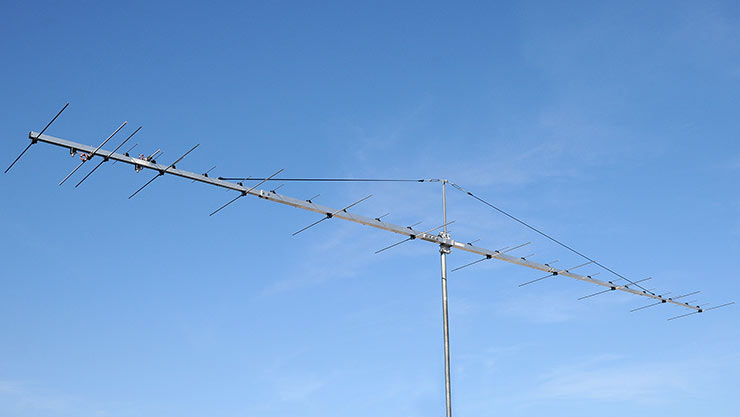 144 and 432 MHz Two Band Yagi Antenna PA144-432-37-7-2CBGP with Extreme Gain