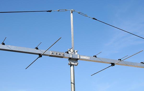 Best 2m and 70cm DuoBand Low Noise Yagi Antenna PA144-432-37-7-2CBGP Bracket Guy Rope View