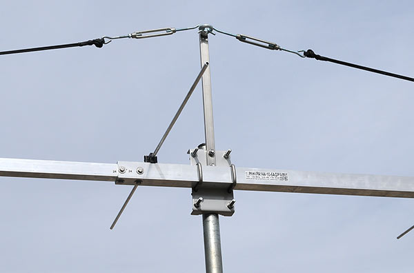 144-145MHz Best EME Contest Yagi Antenna PA144-10-6AGP Low Noise and Best G/T Elements UP Guy Rope Support