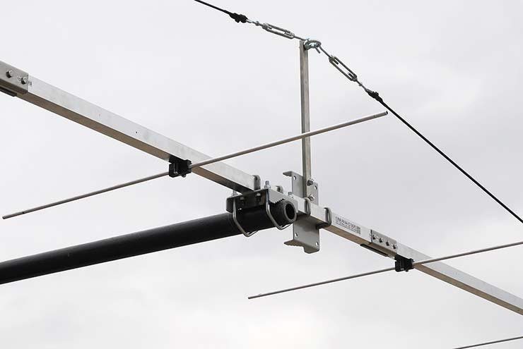 2m EME Low Noise Antenna Side by Side Bracket Horizontal Stacking Fiberglass