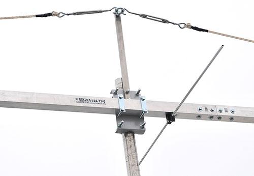 2m antenna PA144-11-6BG bracket and Guy Rope Support