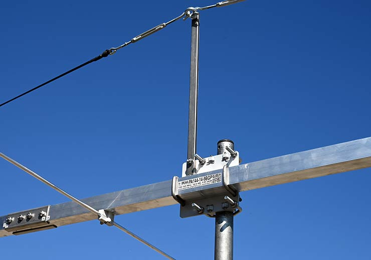 144-145MHz 14elements Super Yagi Antenna Best G/T Boom Join Bracket Guy Rope Support View PA144-14-9BGP