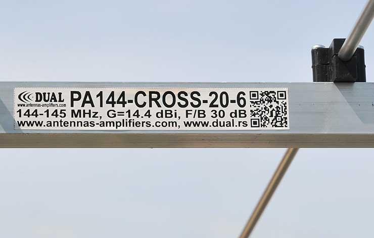 2 meter 144mhz-cross-yagi-antenna-pa144-cross-20-6-label