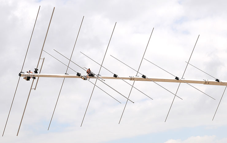 2m - 144MHz XPOL EME Super Yagi Antenna Low Noise Design Airplane Length 24elements XPOL Dipoles View PA144-24-7APL