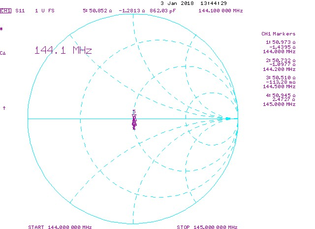 5-elements-144mhz-yagi-antenna-rear-mount-smith-chart-PA144-5-1.5R