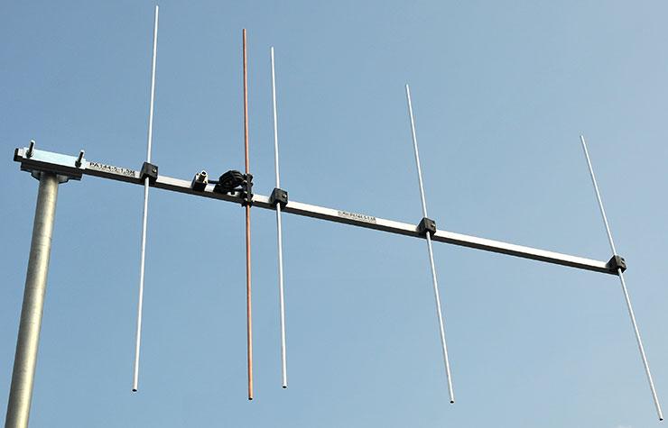 5-element-144-MHz-vertical polarization repeater Antenna PA144-5-1.5RV