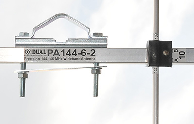 144MHz 2m-Antenna-6-elements Bracket View