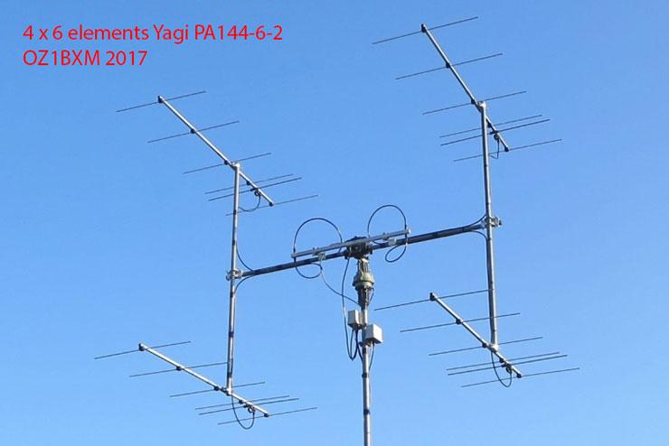 6 element 2-meter Yagi-EME-array-PA144-6-2-at-OZ1BXM