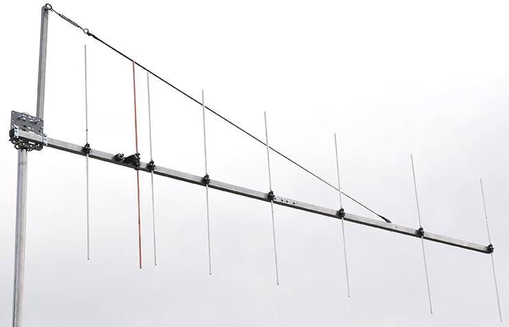 Biggest 144MHz Rear Mount Yagi Vertical Polarization Guy Rope Support