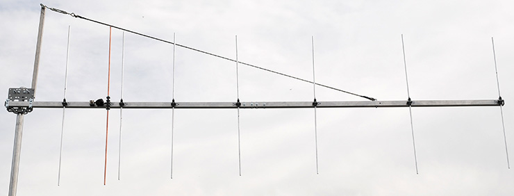 Largest 2m Rear-Mount-Yagi with vertical polarization PA144-8-3RV
