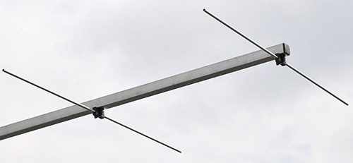 2 meter Antenna rear mount 8 elements PA144-8-3 Endcap