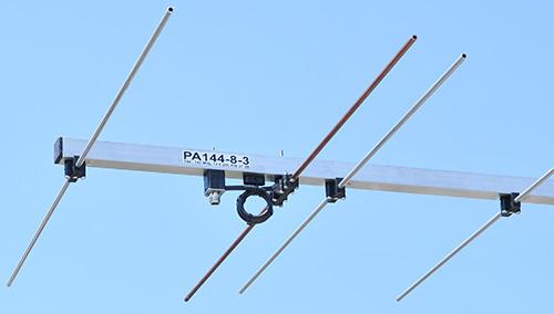 2 meter antenna-8-elements-PA144-8-3-dipole-balun