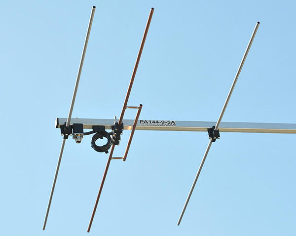 2 meter Yagi Antenna Dipole Balun and Connector View PA144-9-5A