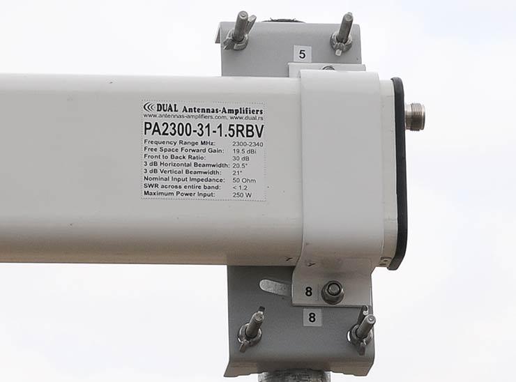 13cm Low Noise Yagi 2300-2340MHz Antenna Vertical Polarization PA2300-31-1.5RBV