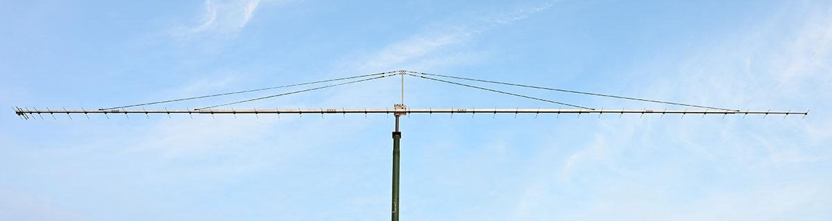 41-Elements/432-434MHz-Yagi-EME-Antenna-4GuyRopeSupports-12MetersLongBoom