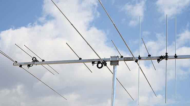 3Connectors three Band VHF Yagi Ham Radio 3Bands 2m horizontal 6m horizontal 2m vertical antenna