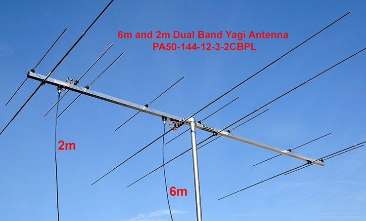 6m-2m-DualBand-Yagi-Antenna-PA50-144-12-3-2CBP-50MHz-144MHz band