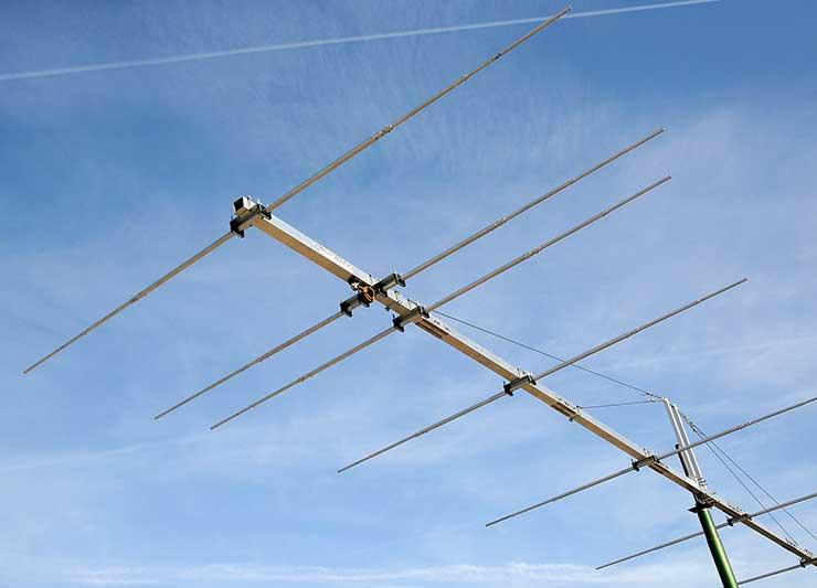 50MHz 6m Extreme Sturdy Yagi Antenna Wind Speed 350kph PA50-9-12BGEXSHD