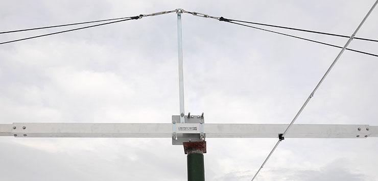 50MHz Super Gain Yagi Antenna PA50-9-13DG Bracket Detail