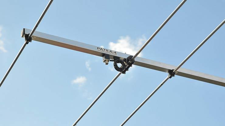4meter 70mhz yagi antenna PA70-6-4 dipole balun connector detail