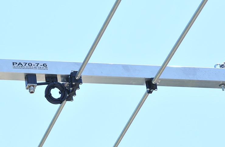 70MHz-4m-Yagi-Antenna-PA70-7-6-Dipole-Balun-Connector-Holder-View