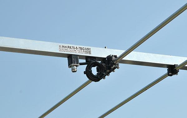 70MHz 8element Super Yagi Antenna PA70-8-7BG Dipole 4m Balun View