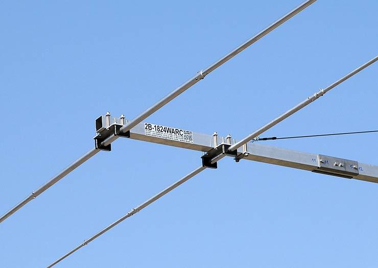 2Band WARC Yagi Antenna 117m and 12m 2B-1824WARC Label Reflector Mounting