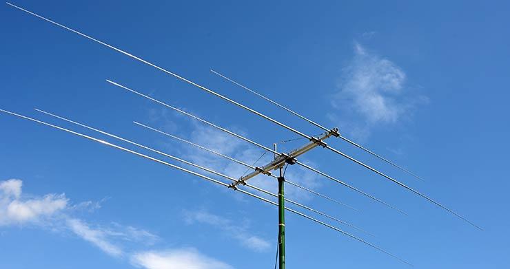 HF and CB Radio 20m, 15m, 11m and 10m Wide Coverage HF Multi-Band Yagi Antenna-3B-222