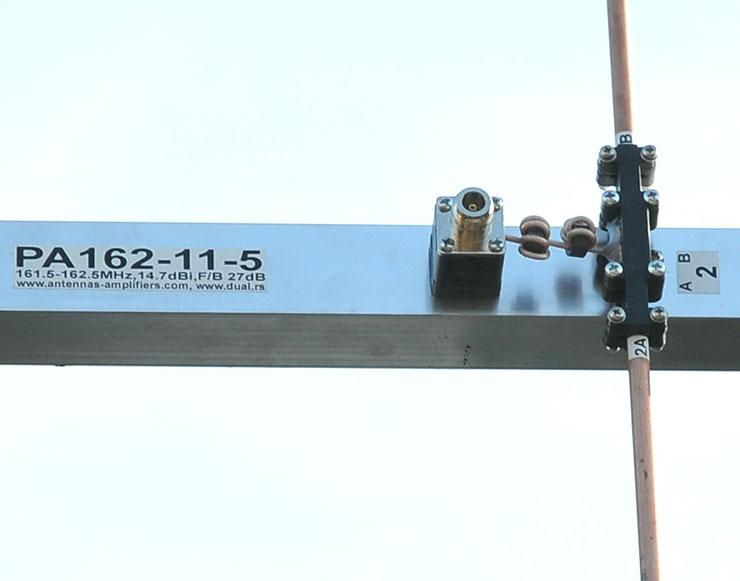 AIS Antenna Connector and balun view PA162-11-5