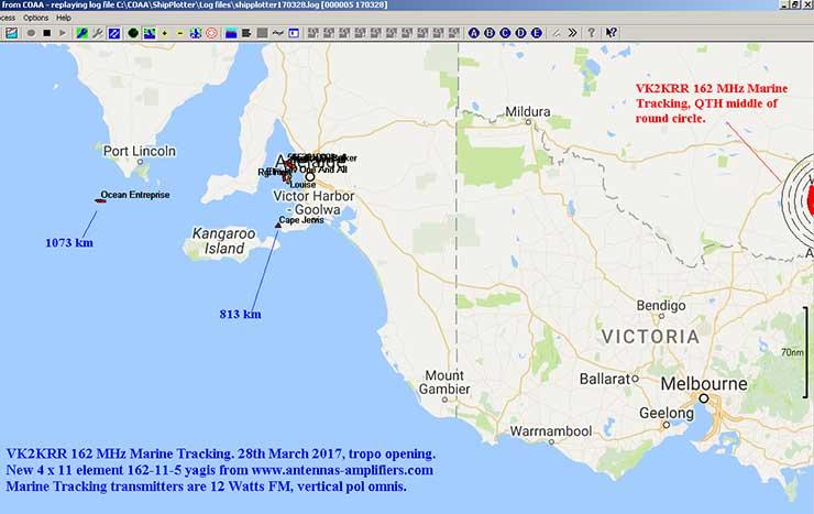 Marine tracking Yagi Tropo Opening PA162-11-5
