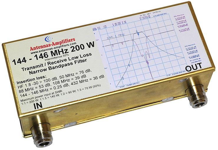 2m-144MHz-146MHz-200W-Transmit-Receive-Narrow-Bandpass-Filter