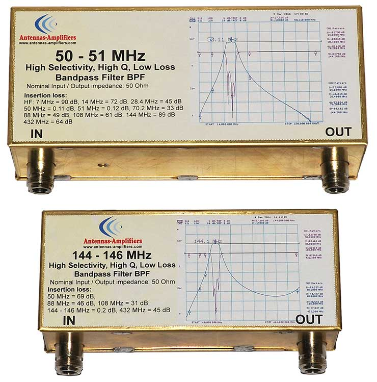 50MHz-High-Selectivity-High-Q-Low-Loss-Bandpass-Filter-Made-By-Antennas-Amplifiers
