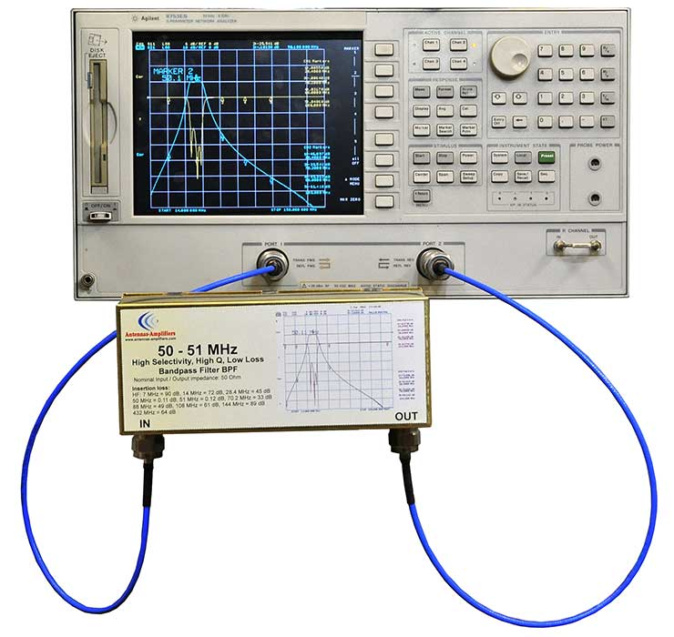 6m-High-Selectivity-High-Q-Low-Loss-Bandpass-Filter-Measuring-50MHz-Made-By-Antennas-Amplifiers